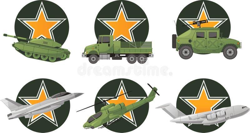 Vehículos de la Guerra de las Galaxias stock de ilustración