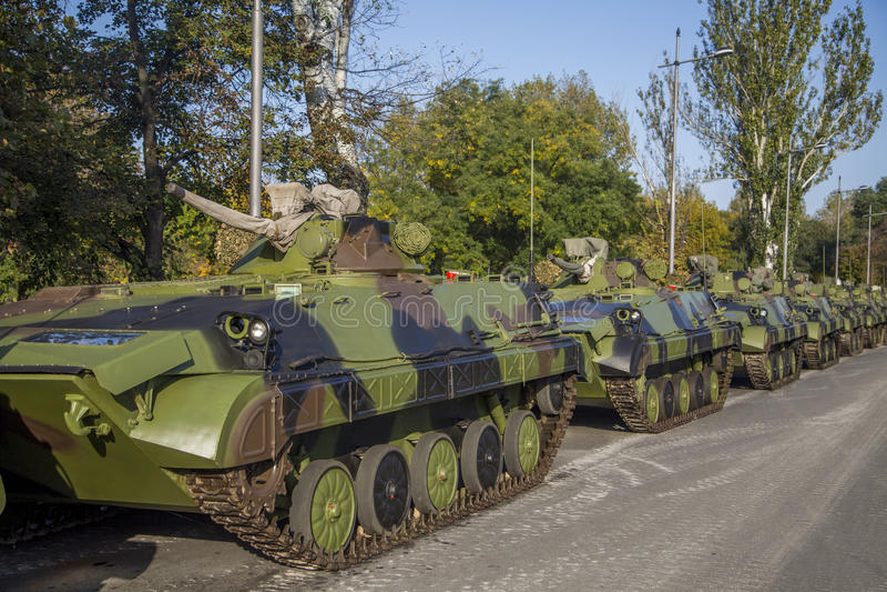 Vehículos de lucha de la infantería fotos de archivo libres de regalías