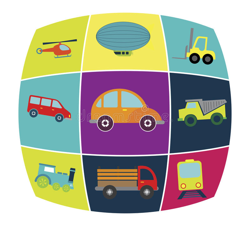 Vehículos de transporte ilustración del vector