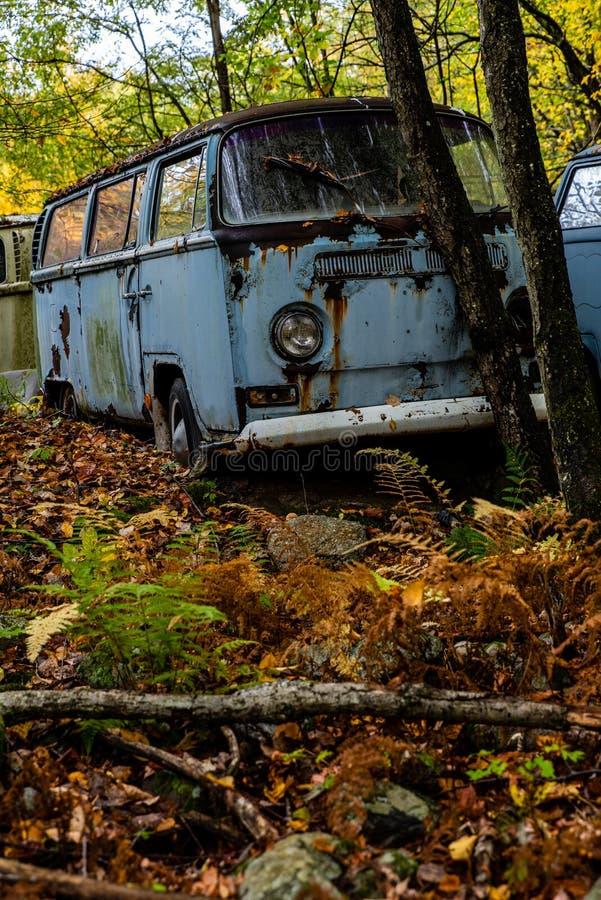 Vehículos de Volkswagen Antiguos Abandonados - Pennsylvania imagen de archivo libre de regalías