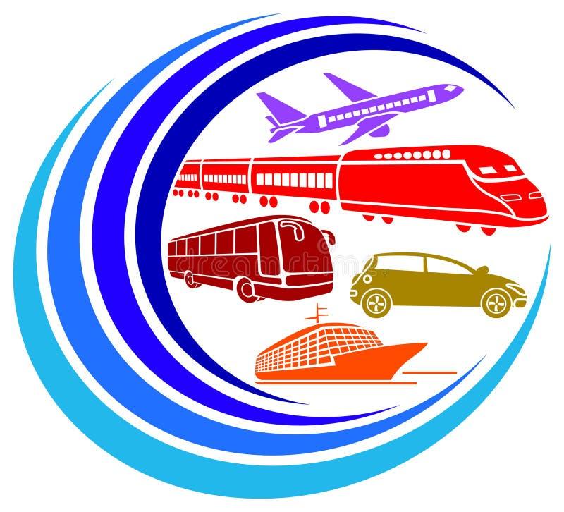 Vehículos que viajan libre illustration