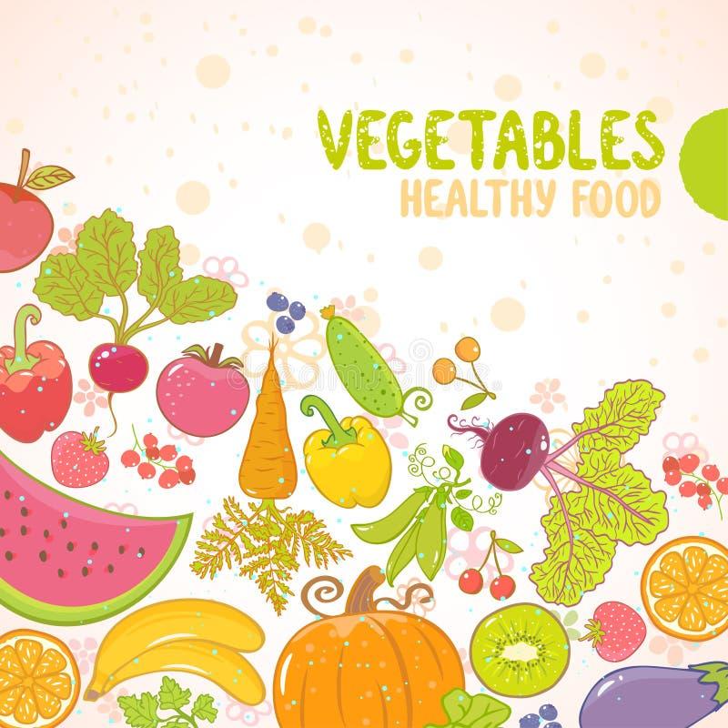 Vehículos y frutas ilustración del vector