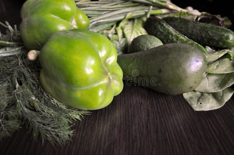 Veh?culos verdes Fije de diversas verduras verdes estacionales fotografía de archivo libre de regalías