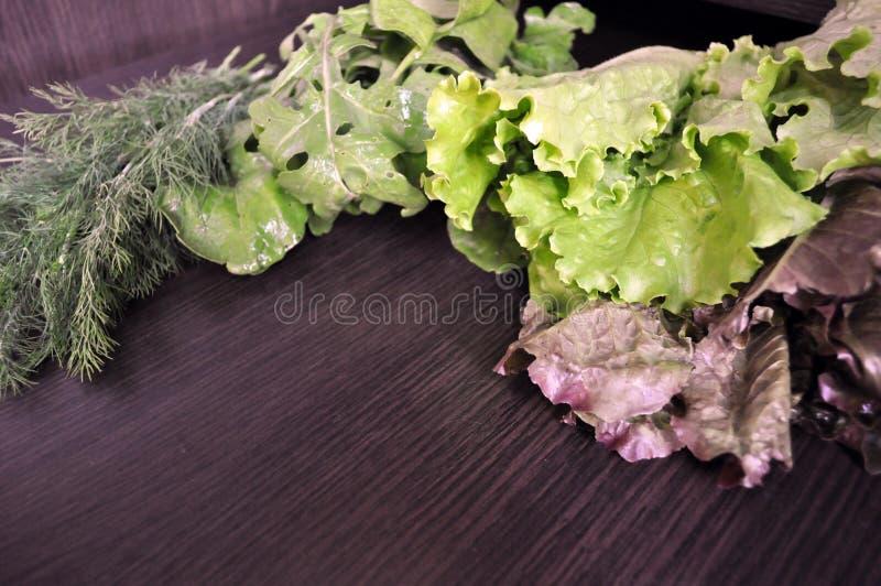 Veh?culos verdes Fije de diversas verduras verdes estacionales foto de archivo libre de regalías