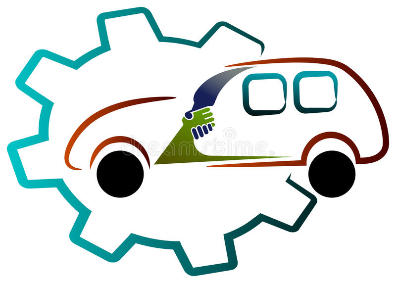 Vehicle association. Isolated illustrated vehicle association concept design stock illustration