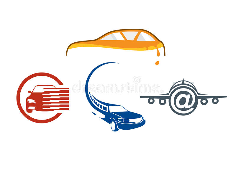 Vehicle auto logo template royalty free illustration