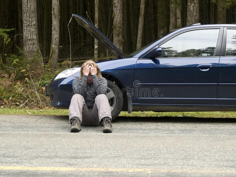 Vehicle Breakdown Frustration royalty free stock images