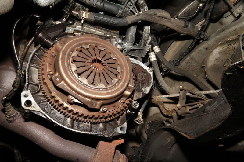 Vehicle clutch assembly. stock image
