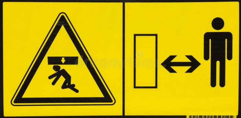 Vehicle danger warning label 4. Vehicle danger warning label. Hazard warning sign royalty free stock images