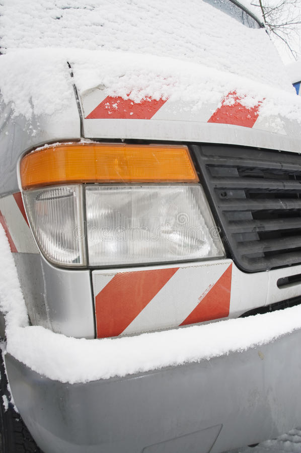 Download Vehicle headlight stock image. Image of cold, snow, hood - 17870829