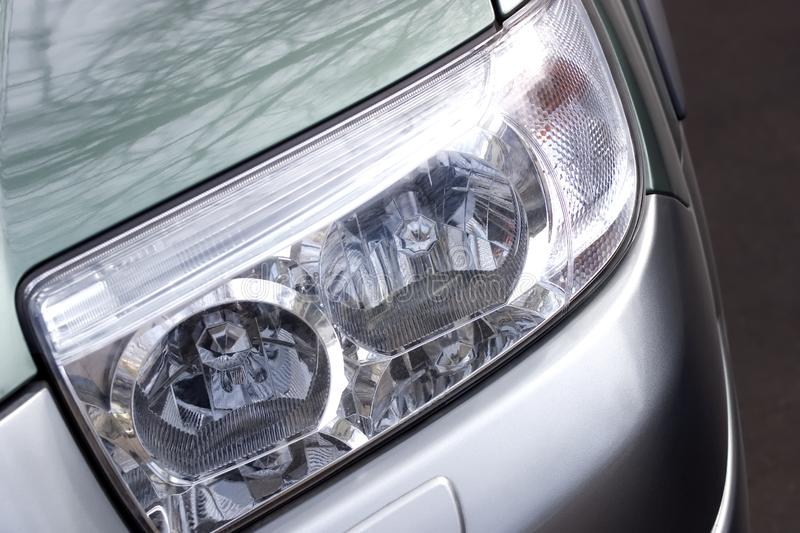 Download Vehicle headlight close-up stock image. Image of section - 2198693