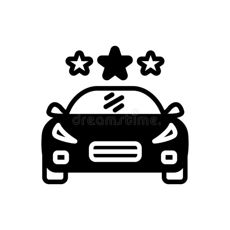 Black solid icon for Vehicle, conveyance and carriage. Black solid icon for Vehicle, transportation, car, logo,  conveyance and carriage stock illustration
