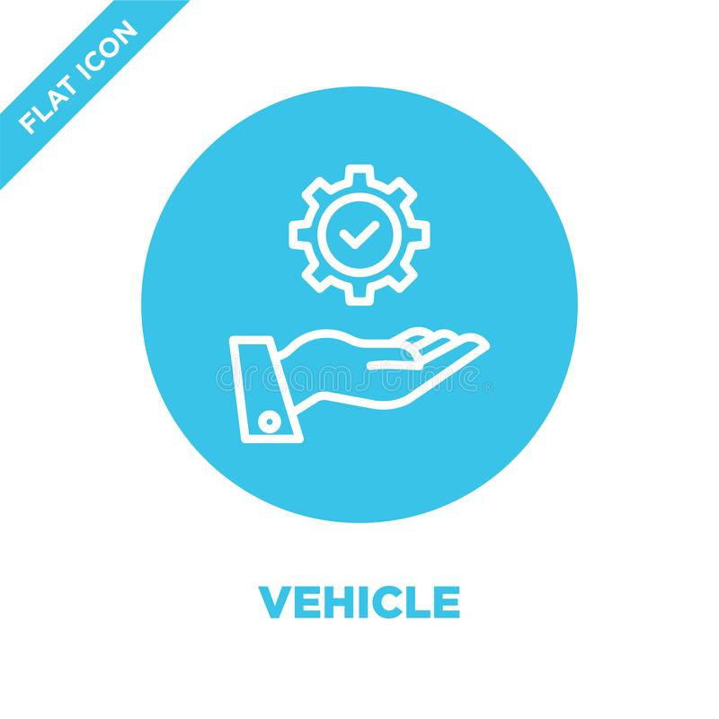 vehicle icon vector. Thin line vehicle outline icon vector illustration.vehicle symbol for use on web and mobile apps, logo, print vector illustration
