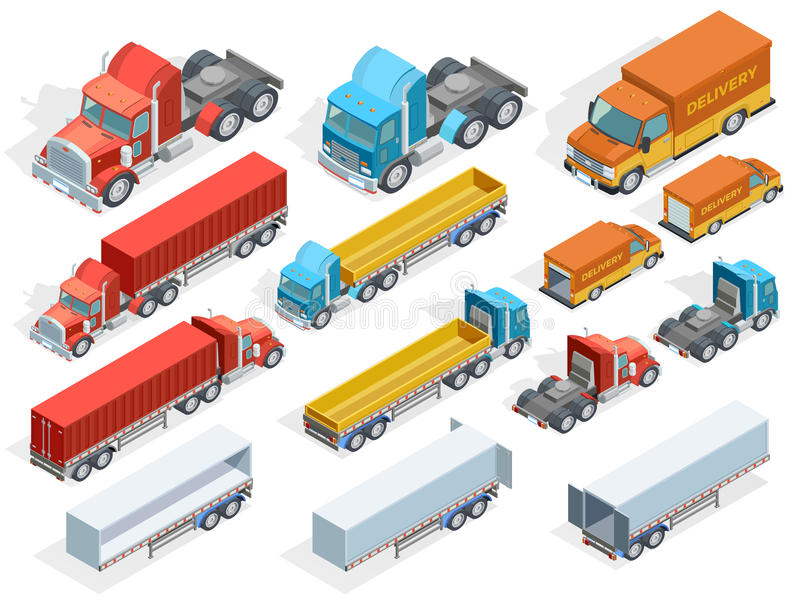 Vehicle Isometric Collection vector illustration