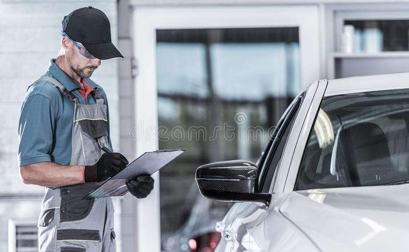 Vehicle Issues Documentation royalty free stock photography
