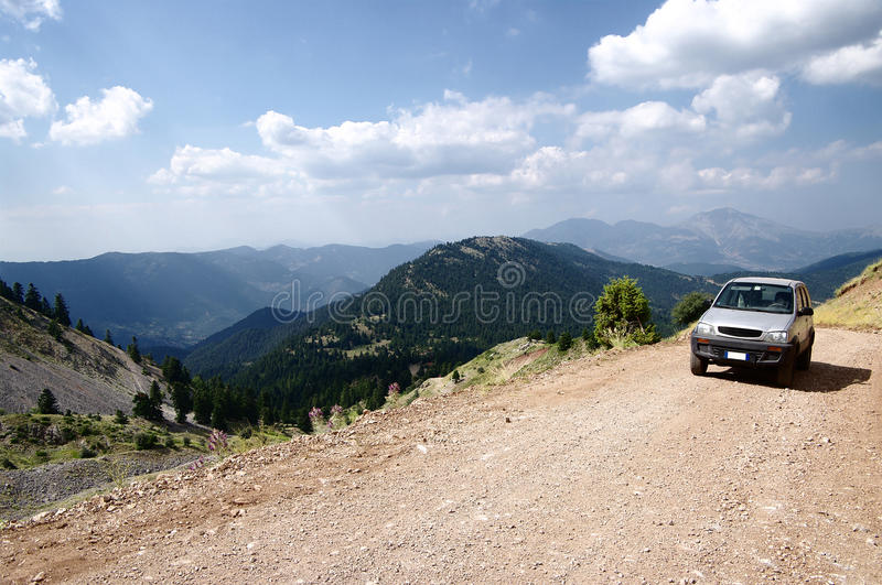 Vehicle off-road in mountain stock photos