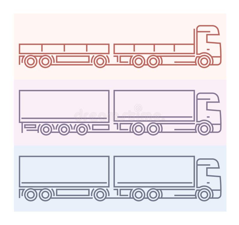 Free Vehicle Pictograms: European Trucks - Tandems 5 Stock Image - 69153431