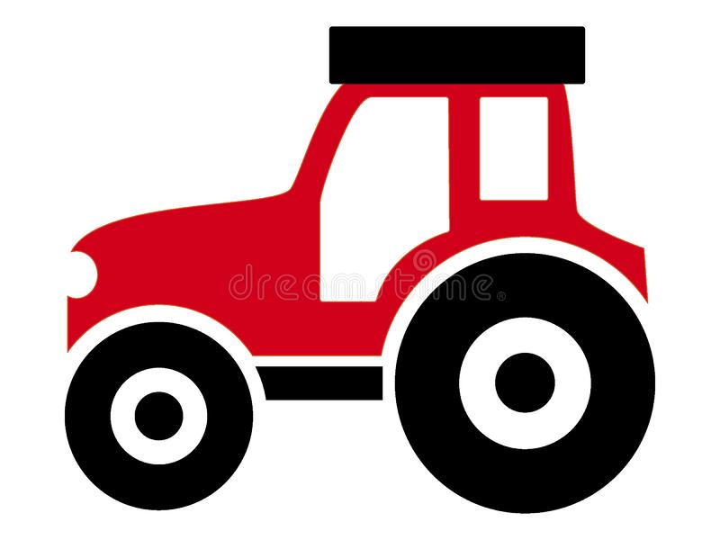 Vehicle picture of a tractor. Vector illustration of the Vehicle picture of a tractor stock illustration