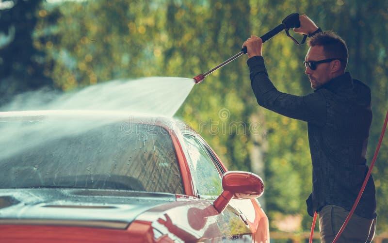 Vehicle Pressure Washing royalty free stock image