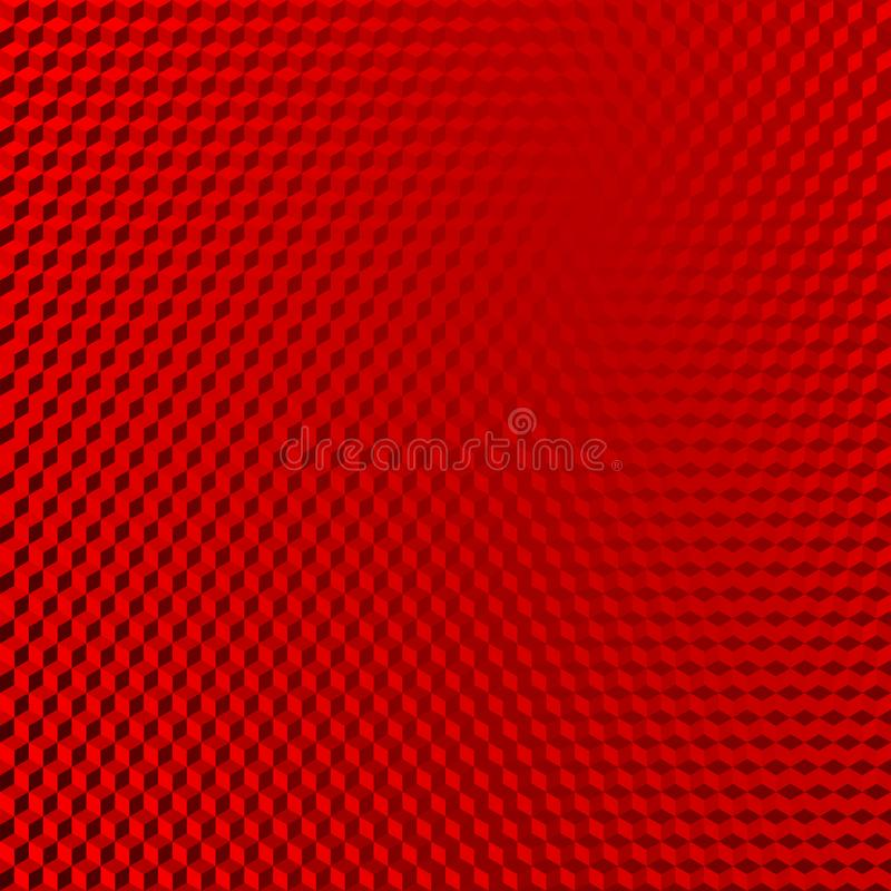Vehicle reflective red abstract isometric shape background vector illustration