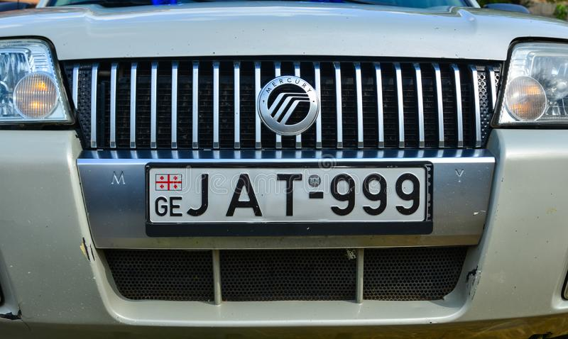 Vehicle registration plate of the modern car stock images