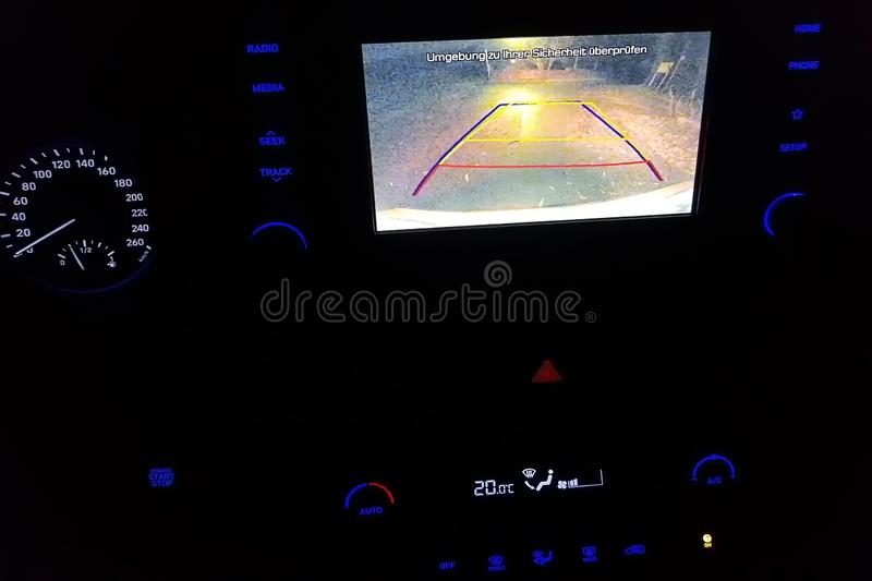 Vehicle with reversing camera royalty free stock photography