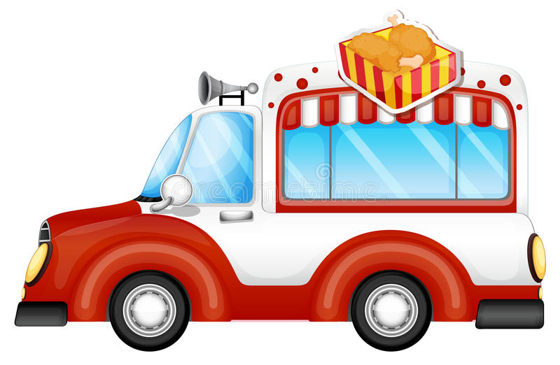 A vehicle selling chicken legs vector illustration