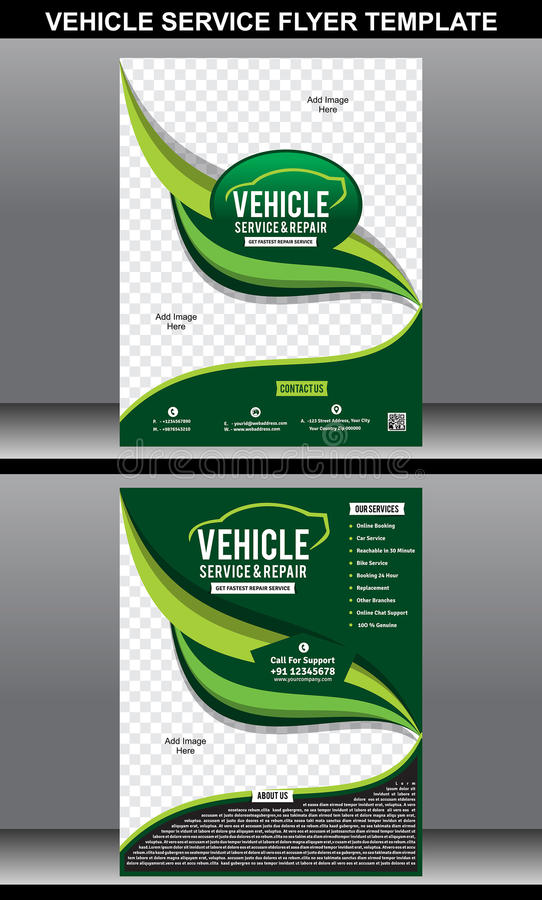 Vehicle Service Flyer Template Stock Vector - Illustration of flyer ...