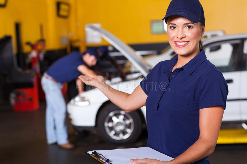 Vehicle service worker stock photography