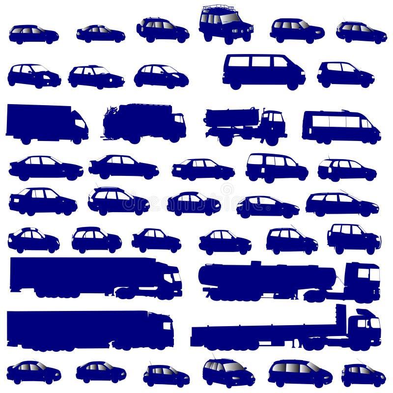Vehicle shapes. Isolated on white background stock illustration
