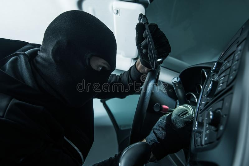 Vehicle Thief Concept Photo royalty free stock images