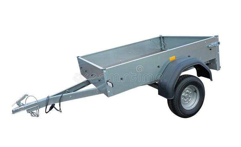 Download Vehicle trailer stock image. Image of horizontal, container - 24417637