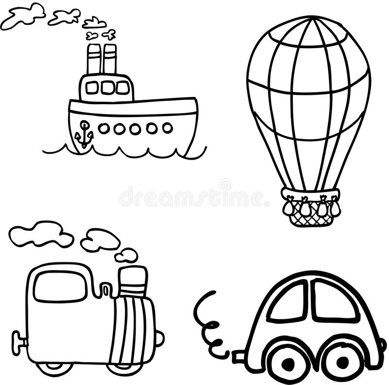 Vehicle vector set royalty free illustration