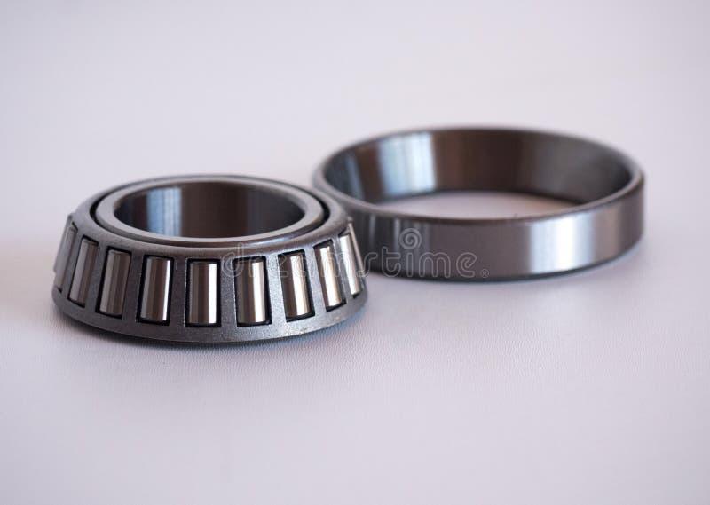 Vehicle wheel bearings. Wheel bearings on white background royalty free stock image