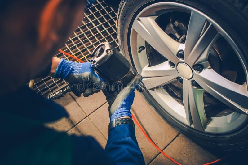 Vehicle Wheels Maintenance stock image