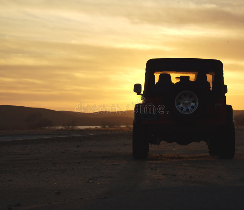 Download Vehicle In The Wilderness At Sunset Stock Images - Image: 1852704