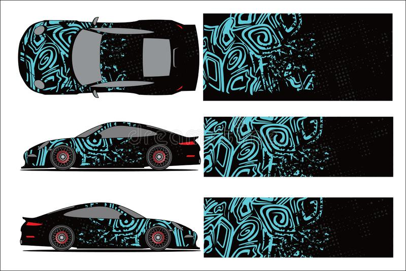 Car graphic vector,abstract racing shape with modern race design for vehicle royalty free illustration