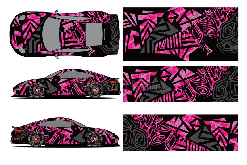Car graphic vector,abstract racing shape with modern race design for vehicle vector illustration