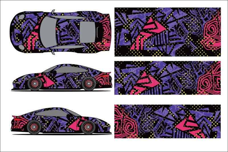 Car graphic vector,abstract racing shape with modern race design for vehicle stock illustration