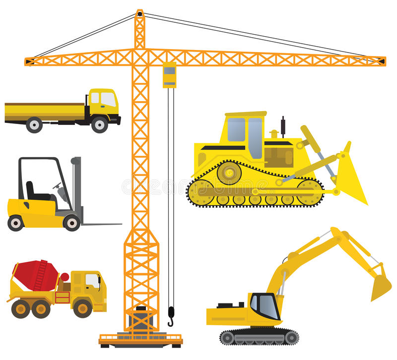 Download Vehicles collection stock vector. Image of forklift, group - 34111220