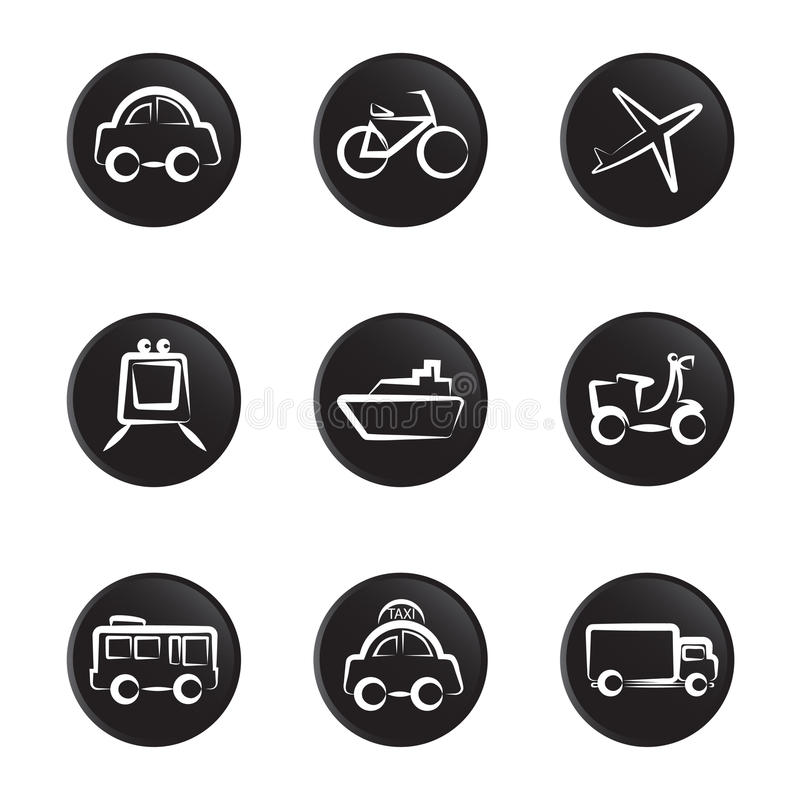 Download Vehicles icon set stock vector. Illustration of wing - 10983604