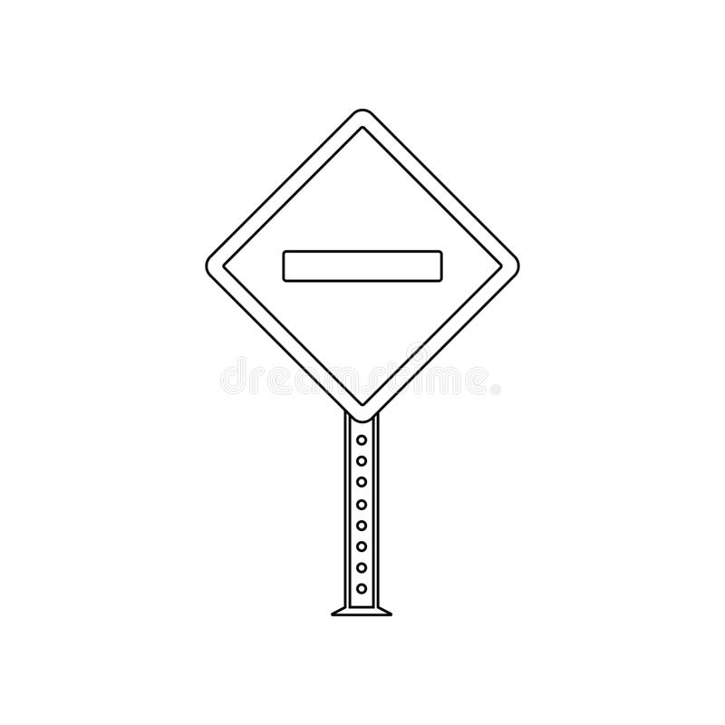 Vehicular traffic colored icon. Element of road signs and junctions for mobile concept and web apps icon. Outline, thin line icon. For website design and vector illustration