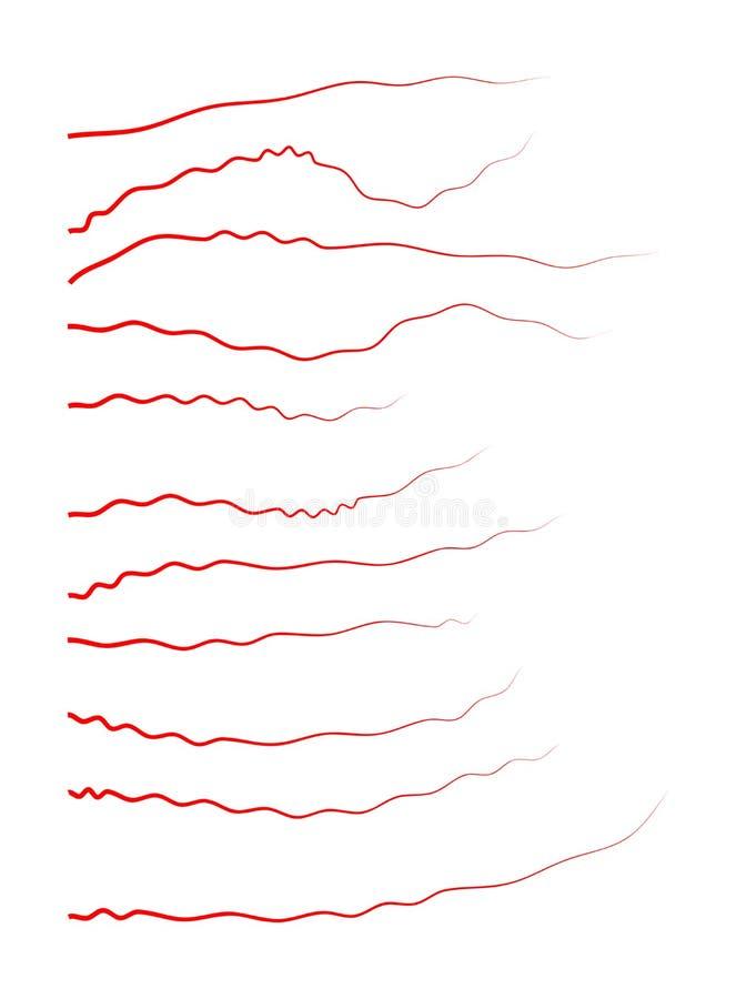 Veias humanas, projeto vermelho dos vasos sanguíneos Ilustração do vetor isolada no fundo branco ilustração do vetor