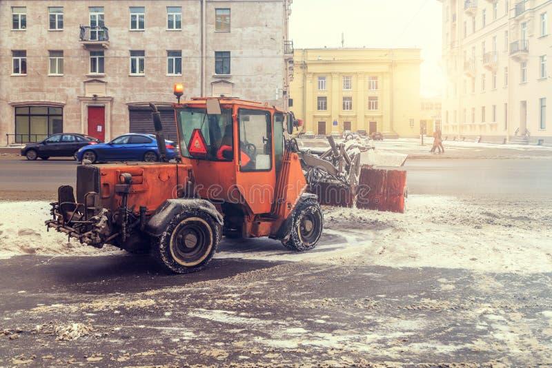 Veicoli di rimozione di neve fotografie stock libere da diritti