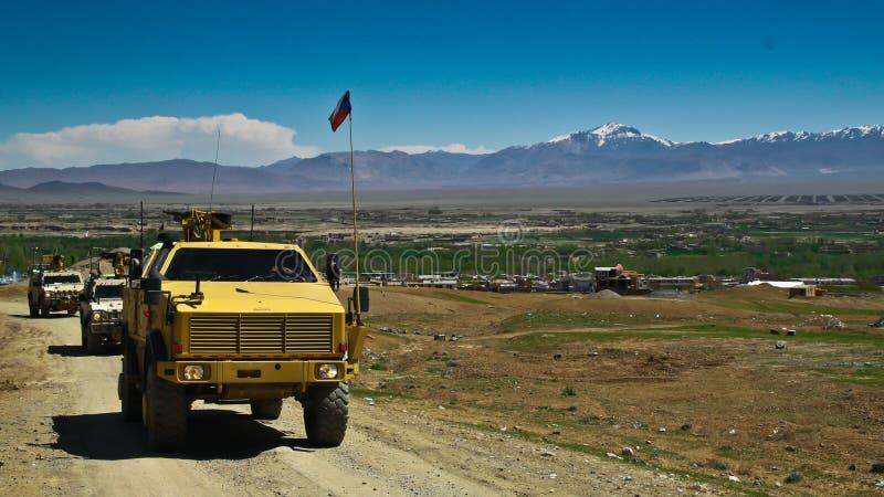 Veicoli militari cechi nell'Afghanistan fotografie stock