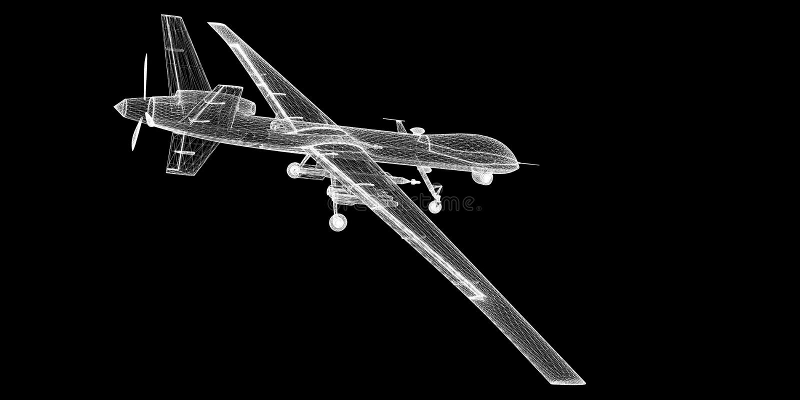 Veicolo aereo senza equipaggio (UAV) immagini stock