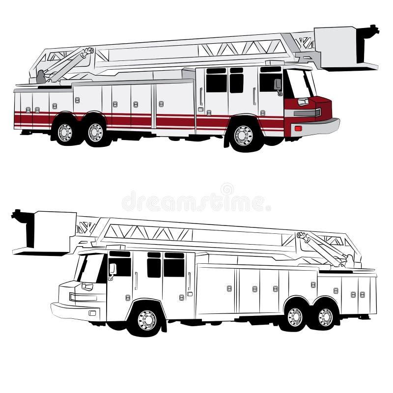 Veicolo del camion dei vigili del fuoco illustrazione vettoriale