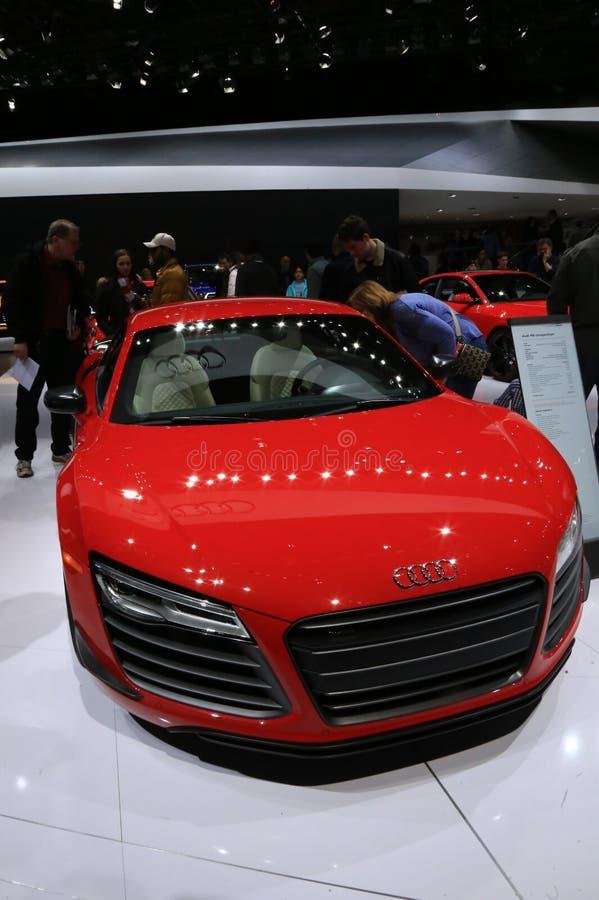 Veicolo di Audi all'esposizione automatica fotografia stock libera da diritti