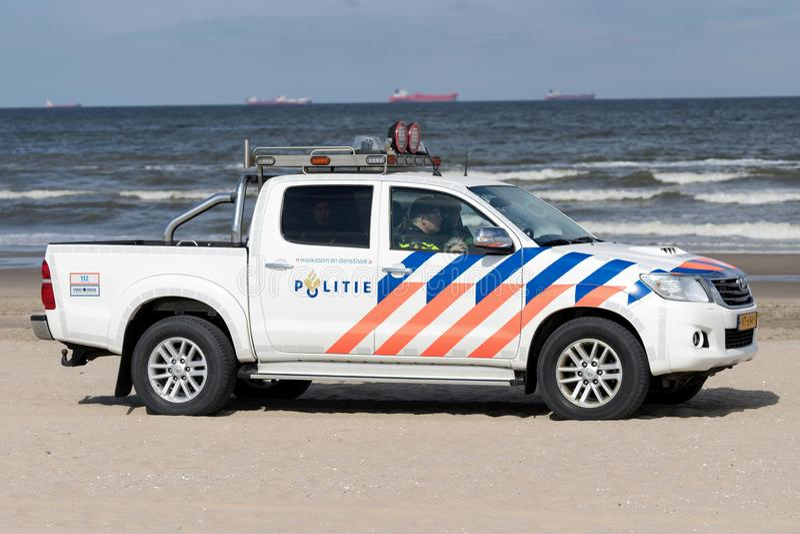 Veicolo di polizia olandese immagini stock libere da diritti
