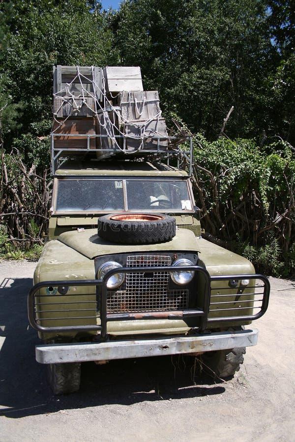 Veicolo di safari fotografie stock